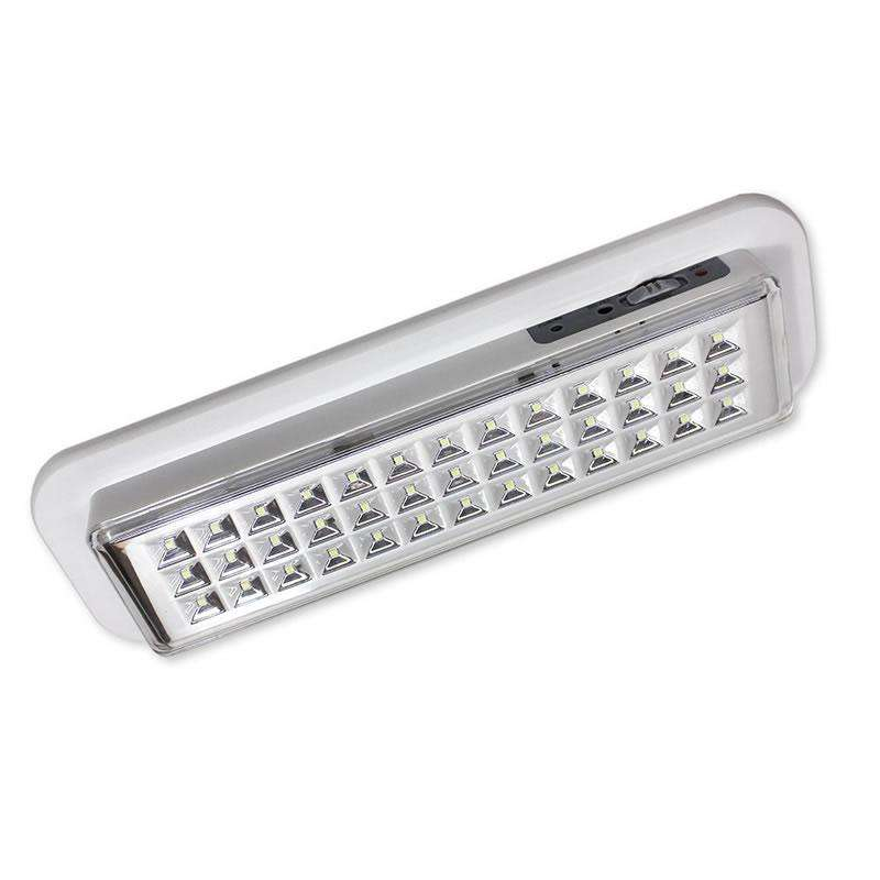 Luz de emergencia Led EMERLUX F320 permanente empotrable techo, Blanco frío